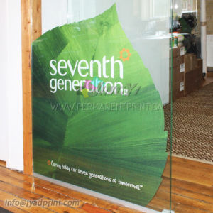 Glass Door/Window Display Vinly Self Adhesive Sticker With Printing pictures & photos