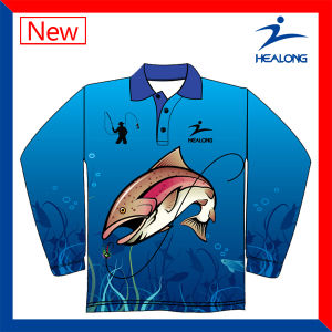 3D Thermal Transfer Printing Sublimated Cheap Fishing Hoodies Sweater Shirts Jerseys pictures & photos