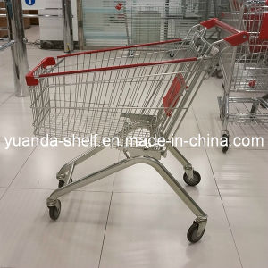 European Style Metal Supermarket Grocery Shopping Trolley Carts pictures & photos