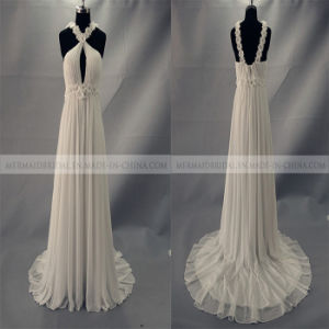 Beach/out Door Ivory Chiffon Wedding Dress