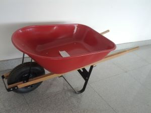 Metal Tray, Wooden Handle Frame, Wheel Barrow (Wb6601)