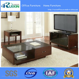 Modern Style Glass Top Coffee Table with Large Storage Drawer (Z160708-3F)
