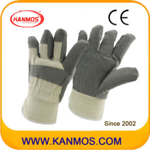 Sell White Back Grey Vinyl Industrial Safety Work Gloves (41017)