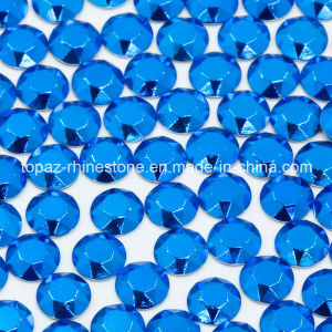 Nice Quality Blue Flatback Iron on Rhinestud for T Shirt pictures & photos