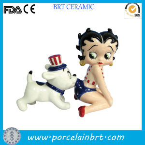 Betty Boop Funny Dog Salt and Pepper Shakers pictures & photos