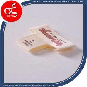 Custom Brand Logo Screen Printed Cotton Label for Gsrment Label pictures & photos