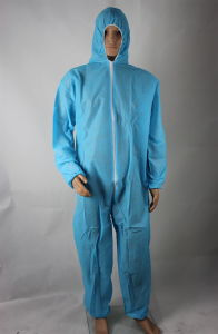 Disposable 115*135cm 33GSM PP Coveralls with Hood