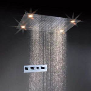Luxury 600*800mm Rainsky Water Fall LED Shower Kits