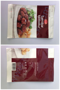Health Frozen Food Packaging Bag Flat Bag pictures & photos