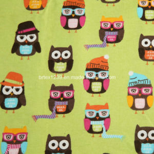 China 100%Cotton Flannel Fabric for Pajamas with Cartoon Printed ...