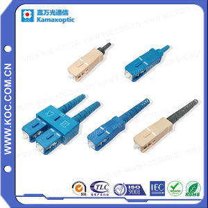Singlemode and Multimode Sc Fiber Optic Connector in Data Center pictures & photos
