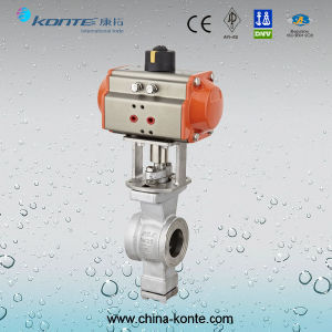 Q670f-16p/R Stainelss Steel Pneumatic V-Type Ball Valve pictures & photos