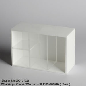 OEM White Acrylic Compartment Boxes for Storage pictures & photos