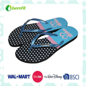 PVC Straps and EVA Sole with Glitter Decoration, Womens′ Slippers pictures & photos