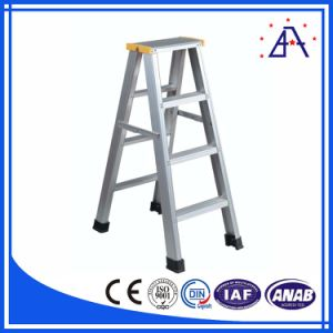 Hot Sale Powder Coated Compact Aluminum Folding Ladder pictures & photos