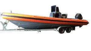 Aqualand 30feet 9m Fiberglass Rigid Inflatable Boat/Rib Fishing Boat (RIB900) pictures & photos