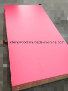 ISO9001 Red Color Melamine MDF /Plywood /Particle Board for Cabinet pictures & photos