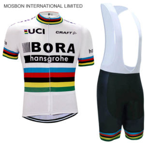 White Team Cycling Jersey Bike Shorts Set pictures & photos