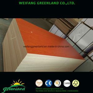 Melamine MDF/Laminated MDF Fiber Board with Embossed Film pictures & photos