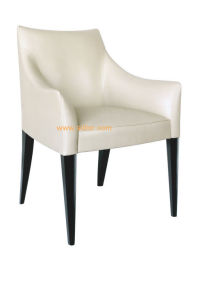 (CL-1107) Hotel Restaurant Furniture Wooden Leather Dining Chair with Arm pictures & photos