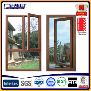 Wood Powder Coating Aluminum Window pictures & photos