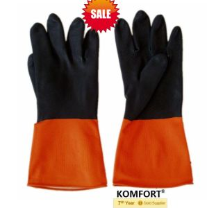 Heavy Duty Safety Industrial Latex Working Gloves (JMC-425B) pictures & photos
