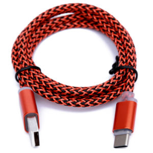 Al-Alloy Shell USB Type C Cable with Nylon Braiding pictures & photos