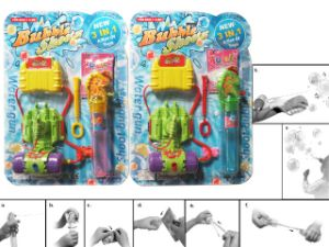 Funny Indoor Wrist Cheap Soap Bubble Water Gun Toy pictures & photos