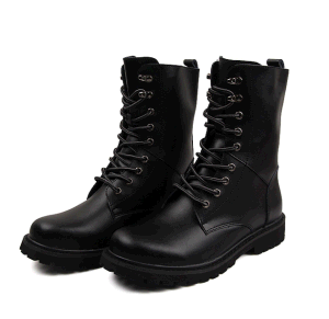 Military Tactical High Quality Boots Combat Black Leather Boots Ankle Boots