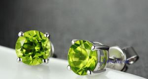 Natural Peridot Round Stud Earrings pictures & photos