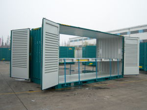 20′ Ventilated High Cube Side Door (with Mezzanine Deck) pictures & photos
