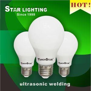 A55 Pear Shape Aluminum Plastic 7W Ultrasonic Welding LED Bulb pictures & photos