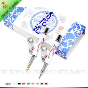 Latest Ceramic Plum Flower Pen for Souvenir Gift pictures & photos