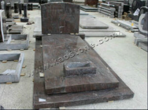 Polished Red Granite Tombstone for Cemetery pictures & photos