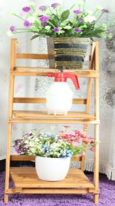 Bamboo Shelf Display Rack for Household (QW-JCSG17) pictures & photos