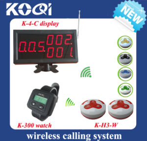 Restaurant Wireless Buzzer System with Display and Wrist Pagers pictures & photos
