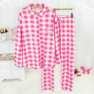 100% Cotton Yarn Dyed Flannel Sleepwear Set
