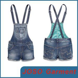 Girls Denim Suspenders Shorts (JC6029) pictures & photos