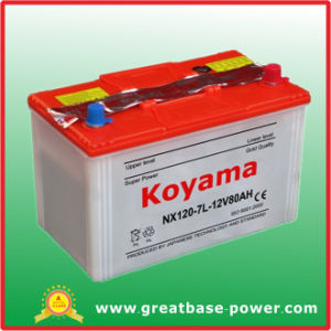 Nx120-7L (12V80AH) Koyama Dry Cell Rechargeable Battery pictures & photos