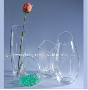 Decorative Glass Flower Vase (V-018) pictures & photos