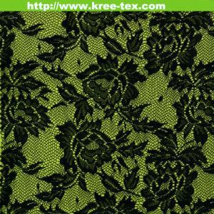 Jacquard Black Allover Nylon Warp Knitting Wedding Dress Laces 633