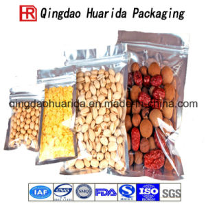 Plastic Aluminum Foil Transparent Zip Lock Food Bag for Nuts pictures & photos