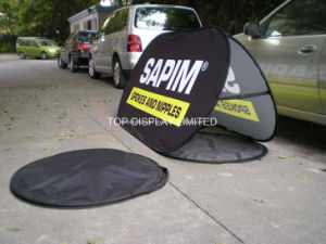 Customized Printed Advertising Pop up Display Oval Sports Golf Promotional Banner Stands 120X70cm Fabric Wind Against Outdoor Double Sided out a Frame Banner pictures & photos