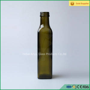 Green Cooking Olive Oil Marasca Glass Bottle 250ml pictures & photos