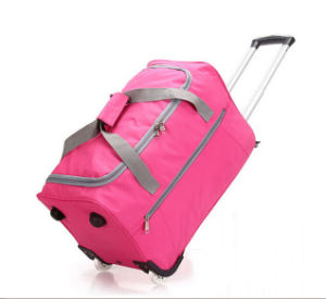 Promotion Cheap Polyester Wheeled Travel Bag pictures & photos