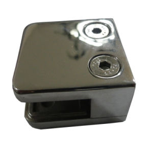 OEM and ODM Zinc Alloy Glass Clip for Bathroom pictures & photos