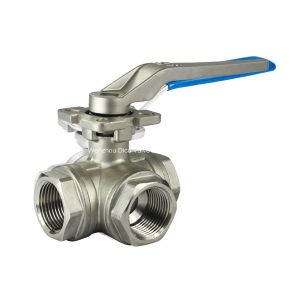 1000psi L Port 3 Way Ball Valve for Mounting Pad pictures & photos