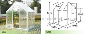 Polycarbonate Panel and Aluminium Hobby Greenhouse (W605) pictures & photos