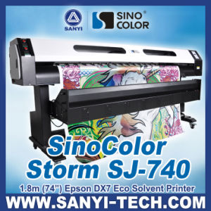 1.8m Eco Solvent Inkjet Plotter Sinocolor Sj740, with Epson Dx7 Head, Photoprint Rip pictures & photos