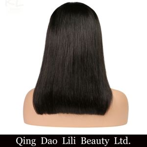 Lili Beauty Hair 13*6 Deep Part Lace Front Human Hair Wigs Bob Natural Color Brazilian Remy Hair Straight Short Bob Wig for Black Women pictures & photos